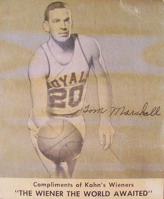 Tom Marshall (basketball) Tom Marshall Gallery The Trading Card Database