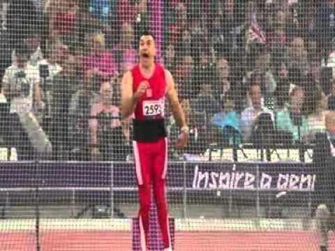 Tomasz Blatkiewicz Tomasz Blatkiewicz rzut dyskiem 2 Paraolimpiada Londyn 2012 YouTube