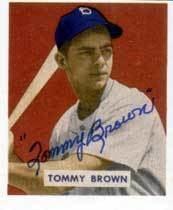 Tommy Brown (baseball) wwwbaseballalmanaccomplayerspicstommybrown