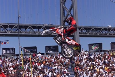 Tommy Clowers Tommy Clowers in Moto X Step Up Competition 2000 X Games