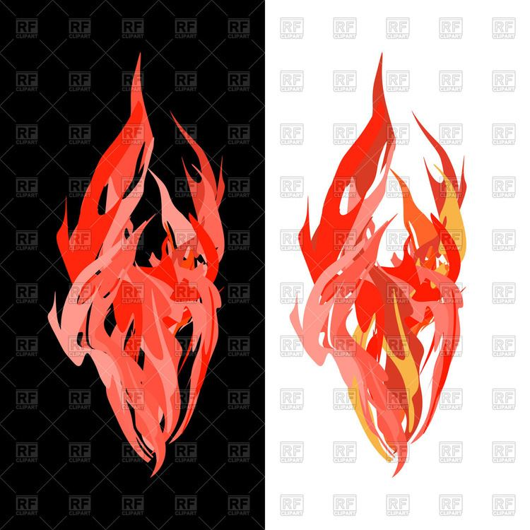 Tongues of flame Vector Image 130991 RFclipart