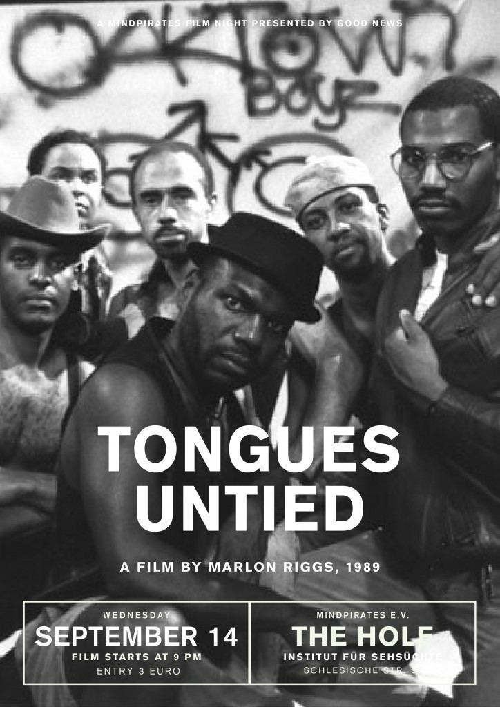 Wednesday Film Night TONGUES UNTIED 1989 Mindpirates