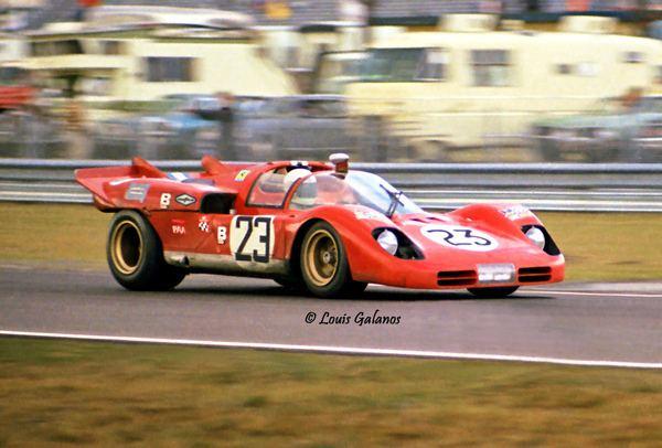 Tony Adamowicz Tony Adamowicz in a NART Ferrari 512S Daytona 1971