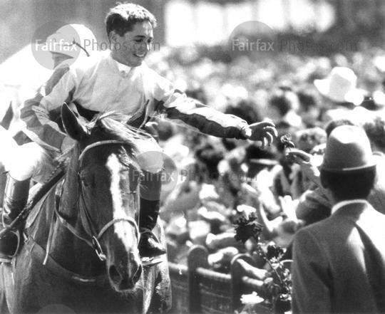 Tony Allan (jockey) Fairfax Photos Jockey Tony Allan accepts an