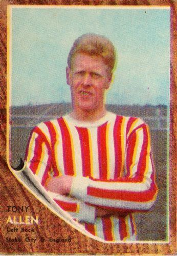 Tony Allen (footballer) STOKE CITY Tony Allen 34 ABC 1963 Footballers Trading Card