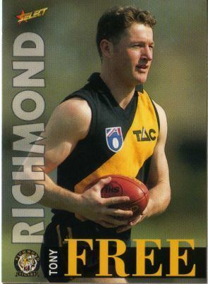 Tony Free RICHMOND Tony Free 32 SELECT 1996 Australian Rules Football AFL