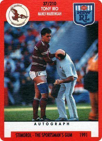 Tony Iro The Greatest Game of All Rugby League Cards Tony Iro