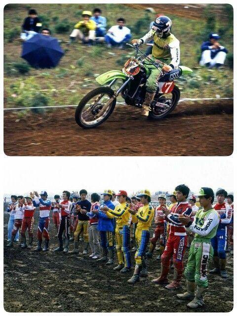 Toshio Fukumoto 1979 MFJ 7 Toshio Fukumoto Team Kawasaki Motocross Pinterest