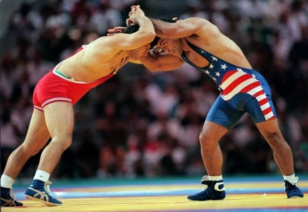 Townsend Saunders Olympics ExSun Devil Townsend Saunders wrestled to silver in 96