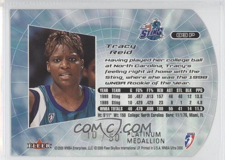 Tracy Reid 2000 Fleer Ultra WNBA Platinum Medallion Edition 83P