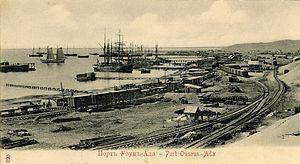 Trans-Caspian railway httpsuploadwikimediaorgwikipediacommonsthu