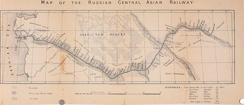 Trans-Caspian railway Map of the Russian Central Asian Railway Railways of Afghanistan