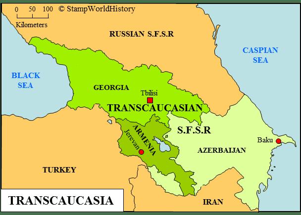 Transcaucasia Transcaucasia Stamps and postal history StampWorldHistory