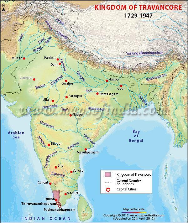 Travancore Travancore Kingdom Map of Travancore Kingdom