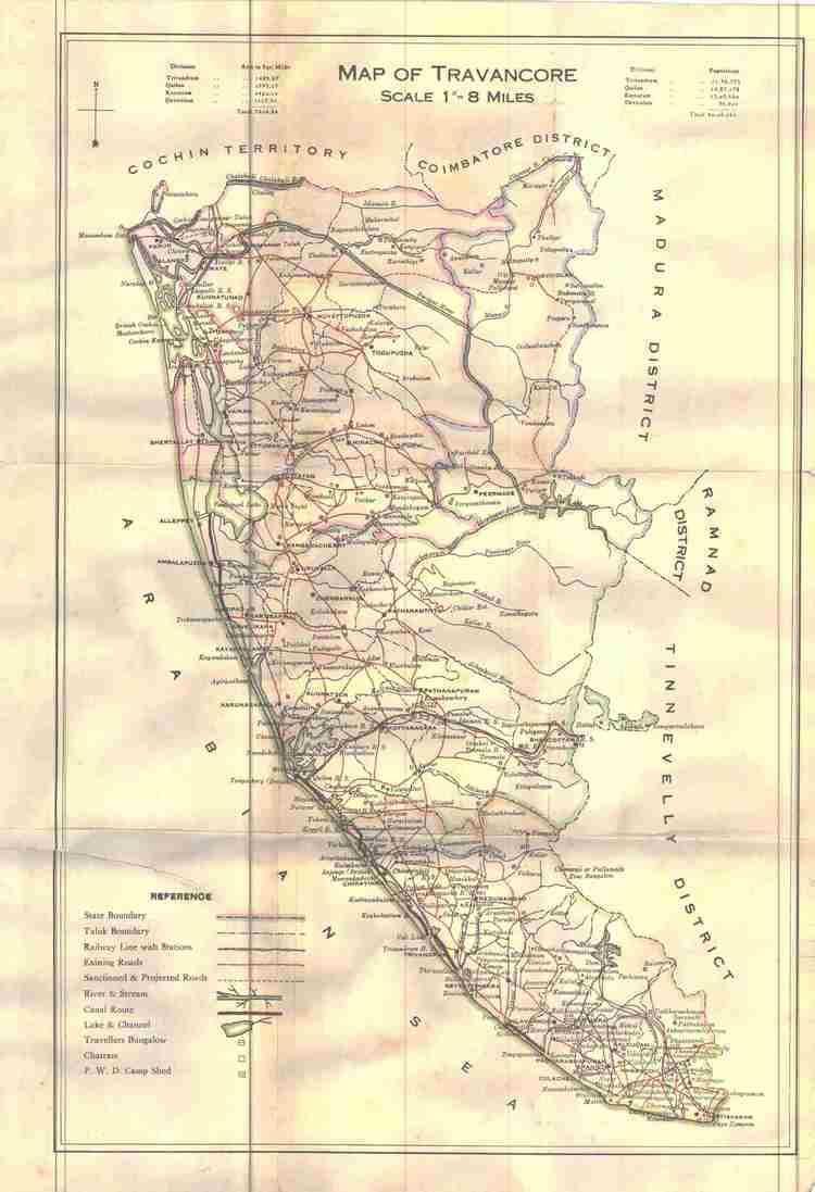 Travancore TTs JottingsBlog of VU2SWX An old map of Travancore