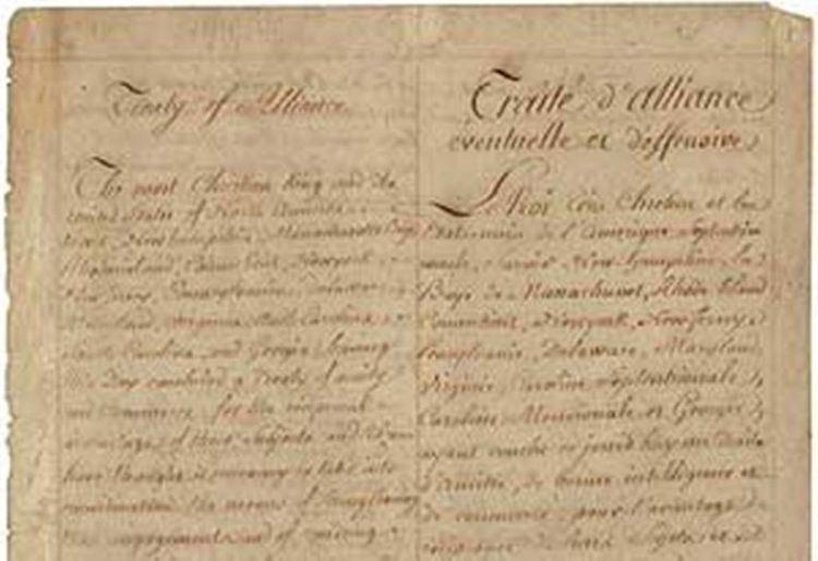 Treaty of Alliance (1778) American Revolution Treaty of Alliance 1778