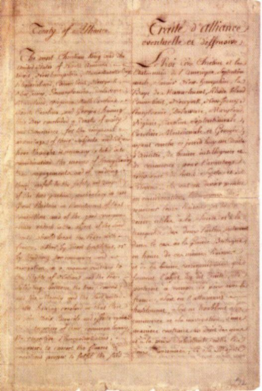 Treaty of Alliance (1778) Treaty of Alliance with France 1778