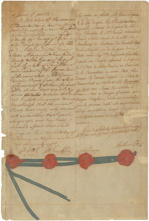 Treaty of Alliance (1778) Our Documents Treaty of Alliance with France 1778