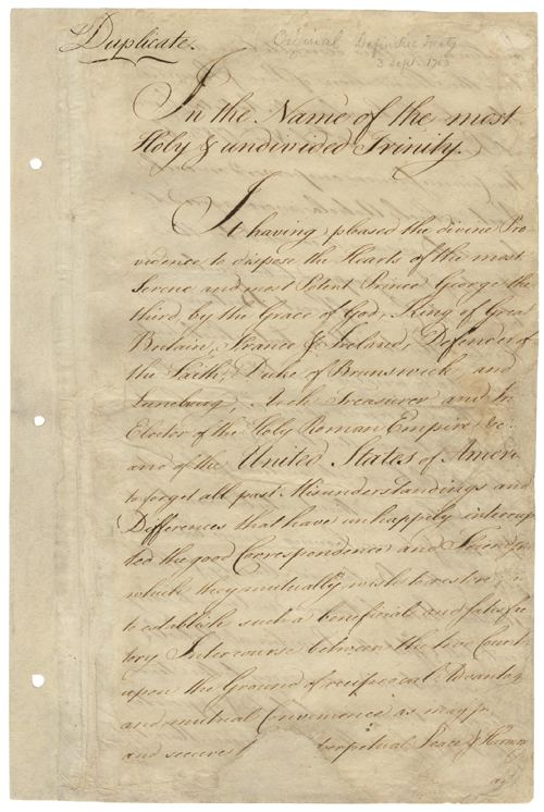 Treaty of Paris (1783) Our Documents Treaty of Paris 1783