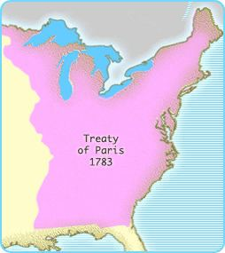 Treaty of Paris (1783) Interactives United States History Map The Nation Expands