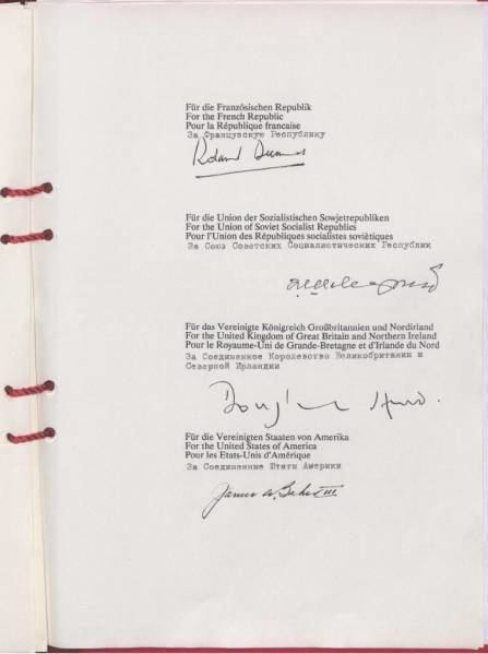Treaty on the Final Settlement with Respect to Germany Germany Construction and Fall of the Berlin Wall and the TwoPlus