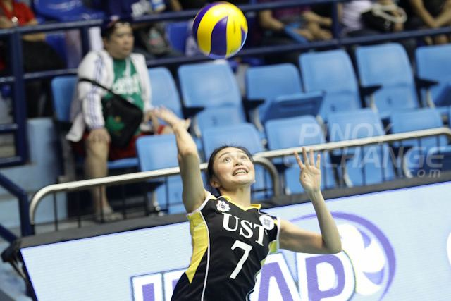Tricia Santos (volleyball) UST39s Tricia Santos in danger of missing Season 77