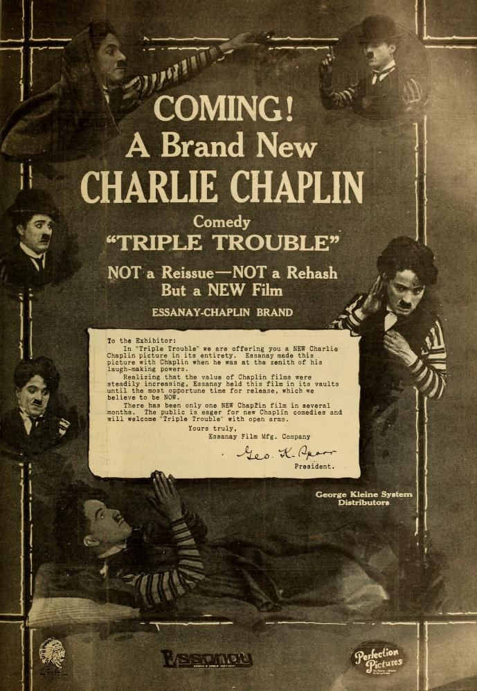 Triple Trouble (1918 film) Chaplin is For The Ages chaplinfanage triple trouble 1918