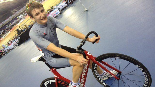 Tristan Robbins Young cycling champion Tristan Robbins talks to School Report BBC