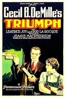 Triumph (1924 film) movie poster