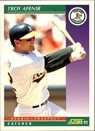 Troy Afenir Amazoncom 1992 Score Baseball Card 407 Troy Afenir Collectibles