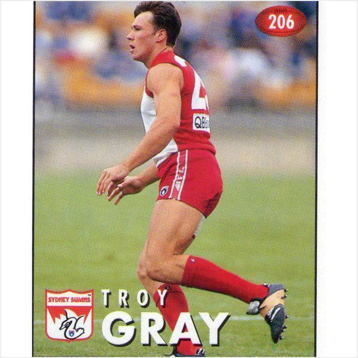 Troy Gray AFL 1996 Select Stickers206 Troy Gray on eBid Australia 129844913