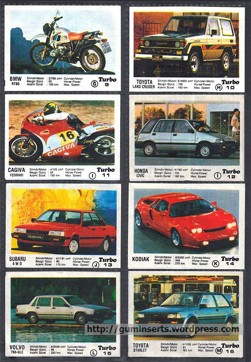 Turbo (chewing gum) Turbo 150 My Bubble Gum Inserts Collection