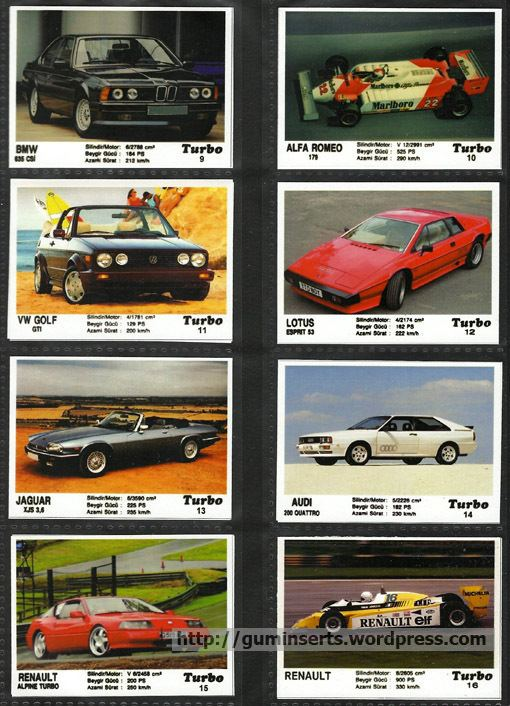 Turbo (chewing gum) Turbo homemade 1 My Bubble Gum Inserts Collection
