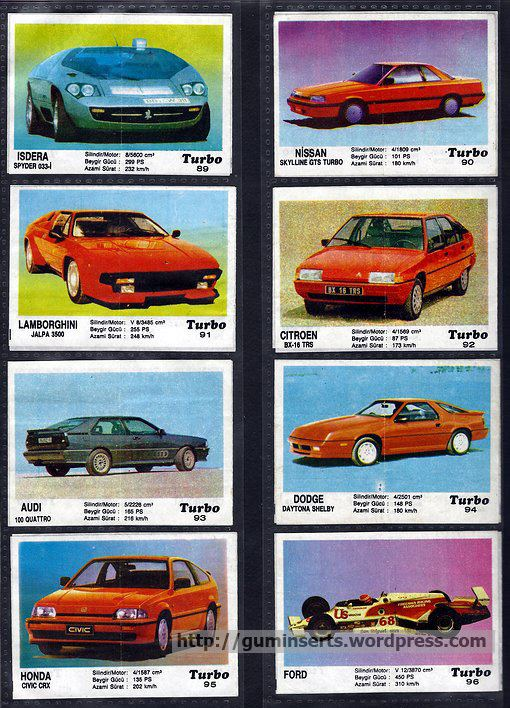 Turbo (chewing gum) Turbo 51120 My Bubble Gum Inserts Collection