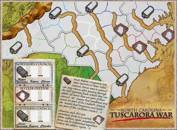 Tuscarora War North Carolina Tuscarora War Map