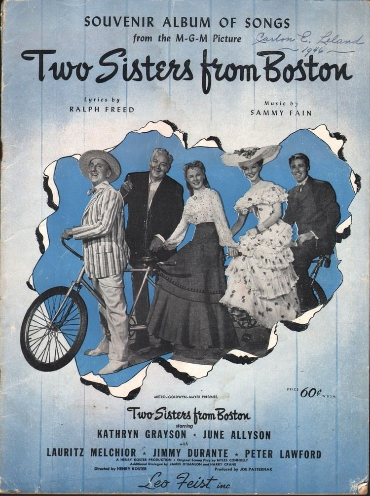 Two Sisters from Boston 1946 The Motion Pictures