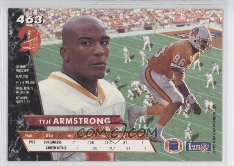 Tyji Armstrong imgcomccomiFootball1993FleerUltra463Tyji