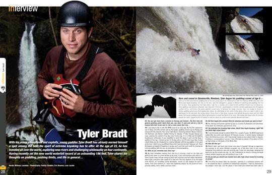 Tyler Bradt Images of Tyler Bradt in Kayak Session Magazine Aurora News