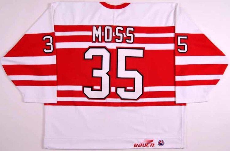 Tyler Moss 199697 Tyler Moss Adirondack Red Wings Game Worn Jersey