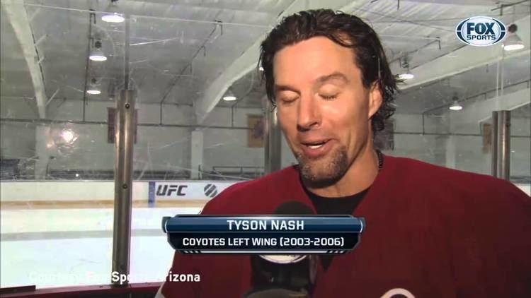 Tyson Nash Phoenix Coyotes Tyson Nash Mic39d Up in ASU Alumni Game