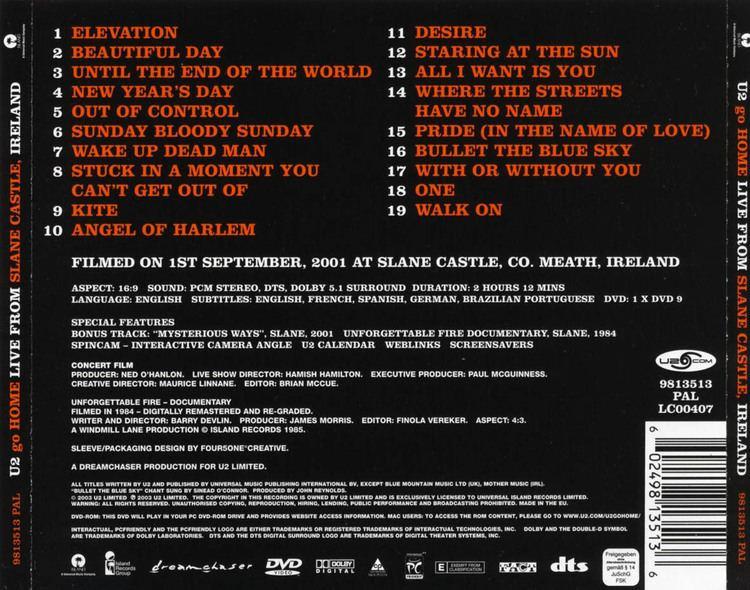 U2 Go Home: Live from Slane Castle, Ireland - Alchetron, the