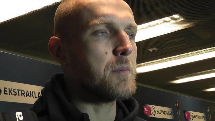 Łukasz Nawotczyński ukasz Nawotczyski przed meczem z Jagielloni YouTube