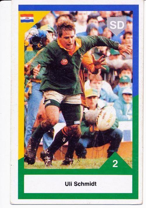 Uli Schmidt Rugby 1992 Sports Deck Uli Schmidt South Africa vs Australia