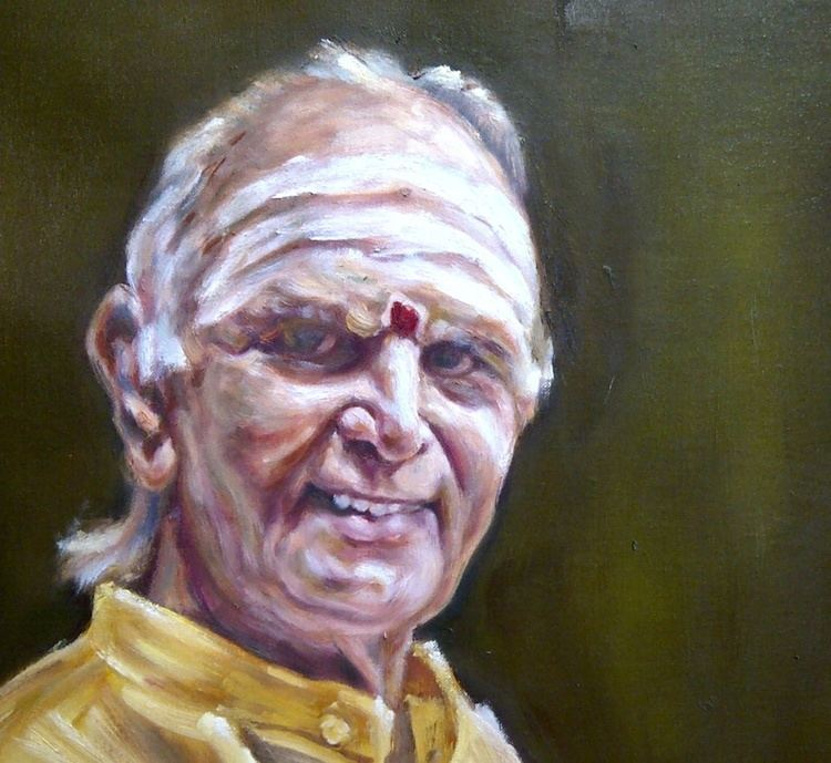 Umayalpuram K. Sivaraman Oil portrait australia commission photo umayalpuram sivaraman