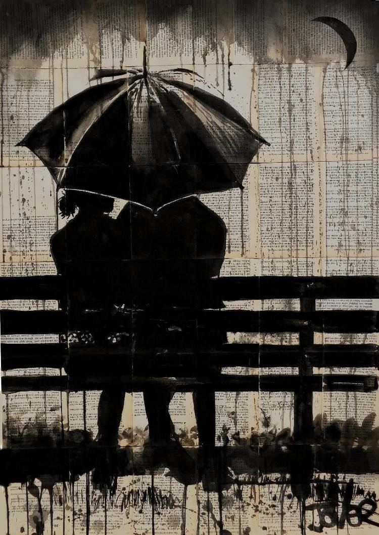 Saatchi Art moments under the crescent moon Drawing by LOUI JOVER