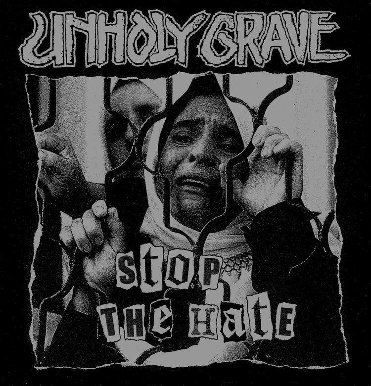 Unholy Grave UNHOLY GRAVE HATRED DIVISION split 7 inch Riotous Outburst Records