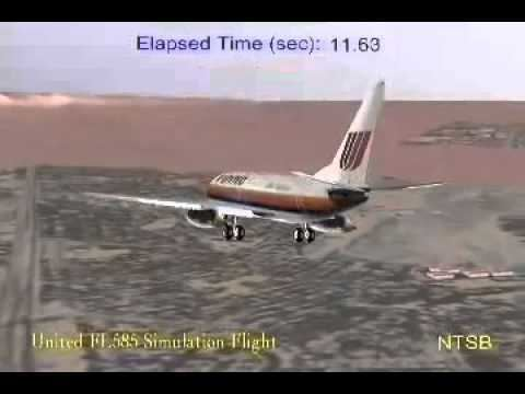 United Airlines Flight 585 NTSB United Airlines 585 Rudder malfunction YouTube