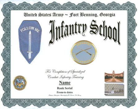 United States Army Infantry School US Army Infantry School Service Display Recognition
