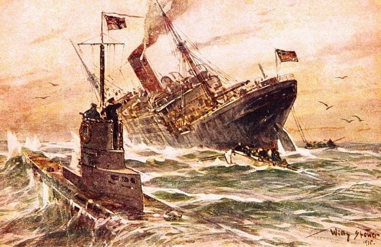 Unrestricted submarine warfare willy stower world war I world war I submarine unrestricted