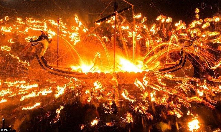Up Helly Aa Firewielding Vikings descend on Shetland Islands for Up Helly Aa